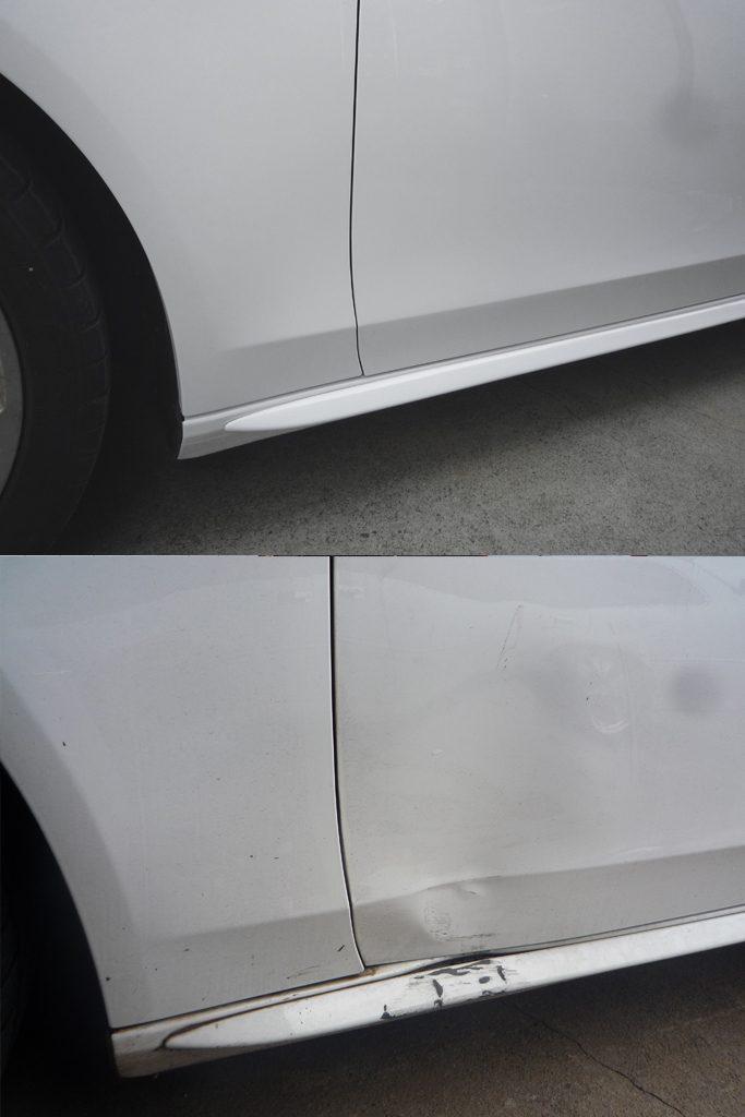 Audi A4:修理前・修理後写真