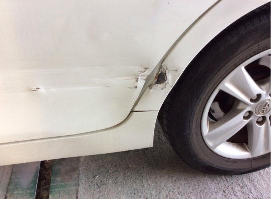 リアドア・クォータパネルの損傷状態
