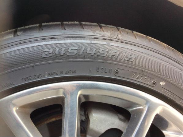 キャデラックCTSのタイヤ